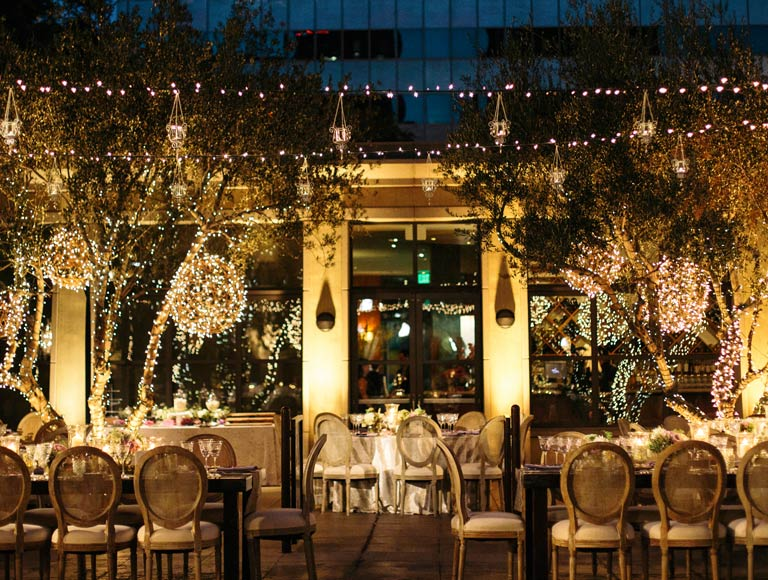 Patina restaurant wedding