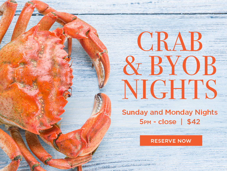 Crab + BYOB Sundays & Mondays | BRASSERIE 8 ½