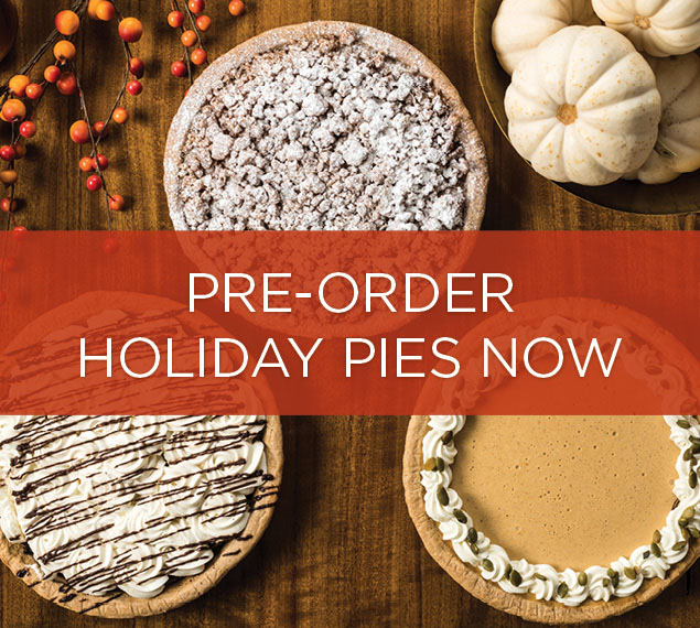 PRE-ORDER Holiday Pies From CUCINA & CO. METLIFE