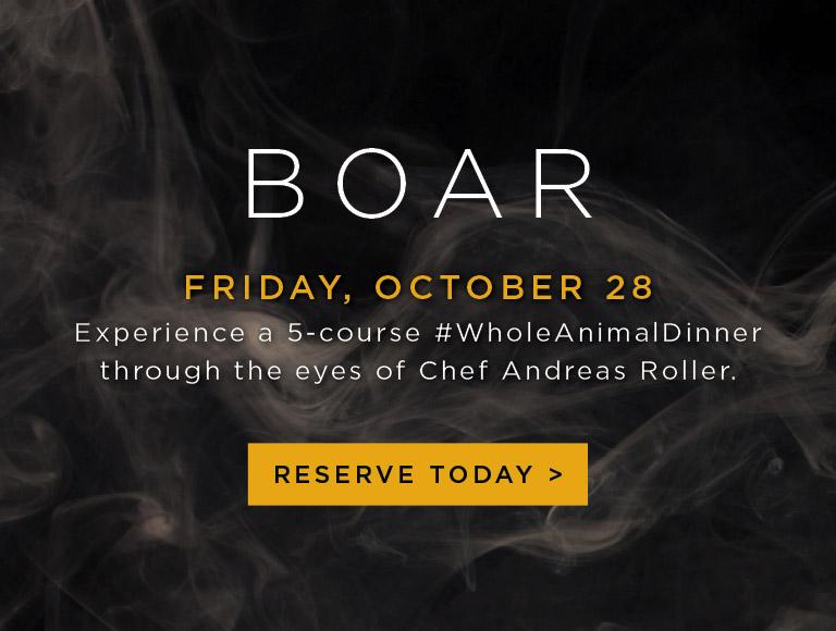 Boar Whole Animal Dinner