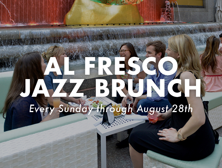 Jazz Brunch at the Summer Garden & Bar at Rock Center Café