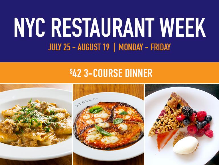 Stella NYC Summer Restaurant Week