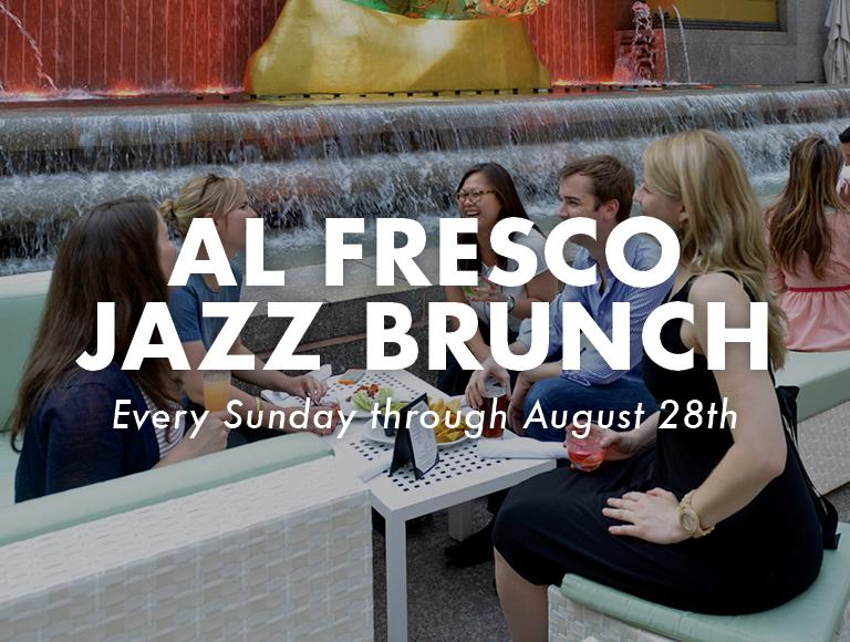 Jazz Brunch at the Summer Garden & Bar at Rock Center Café