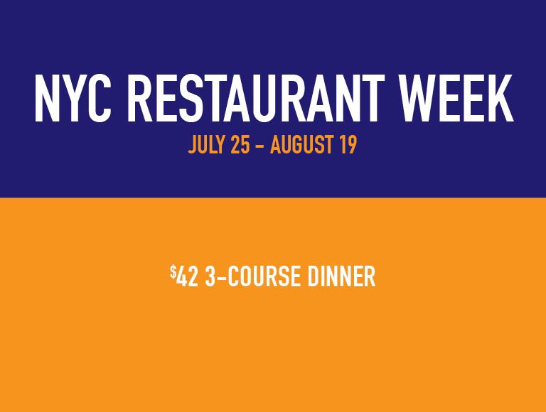NYC Summer Restaurant Week Menus