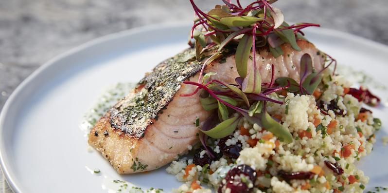 Salmon at Maple Restaurant