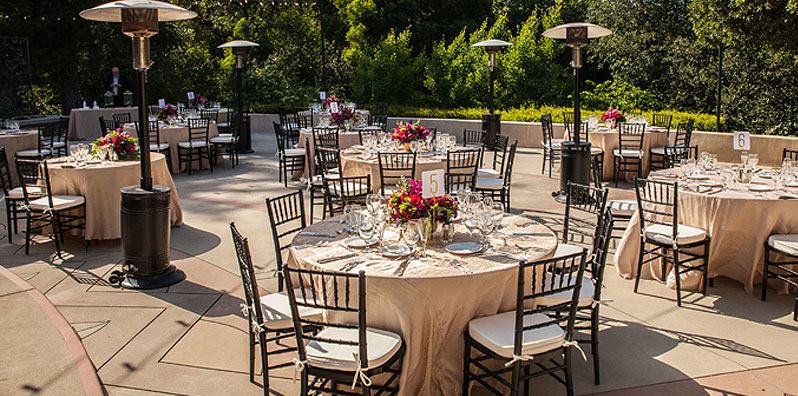 wedding ceremony guest tables